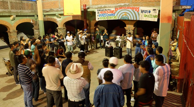 Encuentro de medios libres en defensa del territorio en Amilcingo, Morelos.
